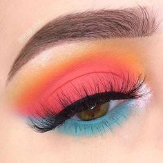 Makeup Eye Looks, Eye Makeup Art, Makeup For Green Eyes, Eyeshadow Makeup, Makeup Inspo, Eyeliner, Eyeshadow Palette, Pink Eyeshadow, Teal Eye Makeup