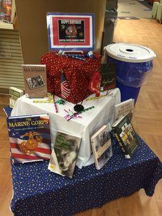 Marine Corps Birthday Library Display November 10th