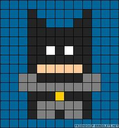 Batman perler bead pattern