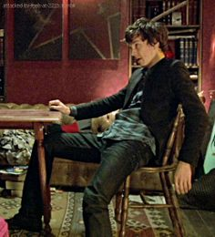 Let's take a moment and ponder these jeans, shall we?  ...  (Sherlock pilot)