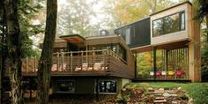 This is the woodland cottage of your dreams. | 23 Surprisingly Gorgeous Homes Made From Shipping Containers