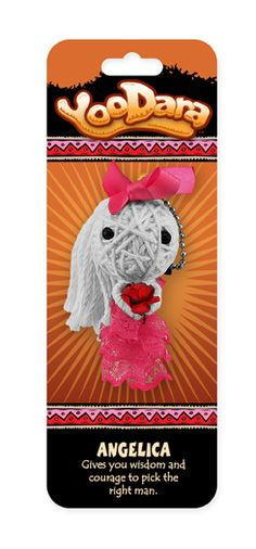 YooDara Good Luck Charms - Angelica gives you wisdom and courage to pick the right man. #voodoo doll #string doll