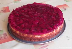 Lahodný malinový cheesecake