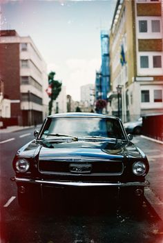 Vintage Ford Mustang. As beautiful as ever.