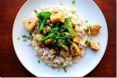 Lighter Kung Pao Chicken #skinny #Chinesefood #dinner #recipe #stirfy @IowaGirlEats | iowagirleats.com