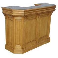Meuble bar en bois massif L 140 cm 2 tiroirs 4 niches ''Colorado 140''