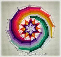 Yarn Crafts, Diy And Crafts, Paper Crafts, Mandala Yarn, Gods Eye, Feather Crafts, Thread Art, Weaving Art, String Art