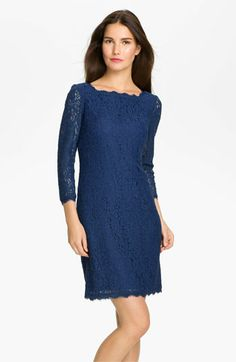 Adrianna Papell Lace Overlay Sheath Dress available at Nordstrom$158.00