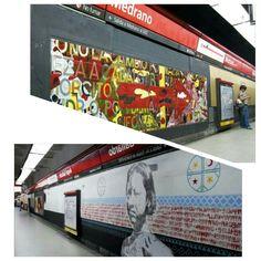 Murales Medrano y Angel Gallardo- Subte B