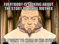 """I'm dying to learn more about what happened to Iroh in the gap between the flashbacks portrayed in """"Zuko Alone"""" and the first episode of Avatar. Seriously, Bryke, make this a thing!"""