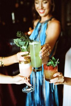Bachelorette Cocktail Party Inspiration #primarypetals