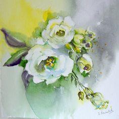 #aquarelles #aquareldrawing #art #painting #flowers #ponselet @ #lysianthus
