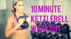 A 10 Minute workout that uses kettlebell exercises to sculpt those arms & abs and tone your legs. Kettlebell is a great tool to add diversity to your workout.