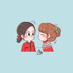 Jennie and Lisa Love Cartoon Couple, Cartoon Girl Images, Cute Couple Art, Cartoon Art, Chibi, Attractive Wallpapers, Fanart, Blackpink Poster, Bff Drawings