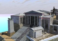 Ancient Athens - Hellenistic Athens - The tethrippon of Propylaea on the left. Ancient Greek Architecture, Historical Architecture, Parthenon, Acropolis, Vacation Trips, Vacation Travel, Hellenistic Period, Architecture Drawings, Fantasy Illustration
