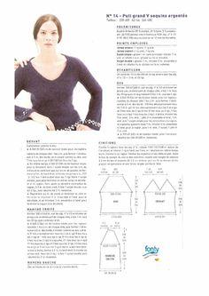Modele tricot gratuit pull femme col v mohair
