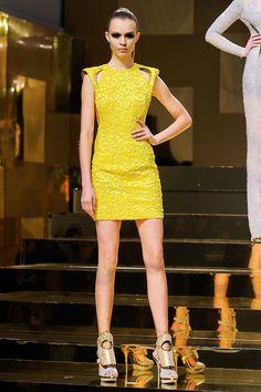 Spring / summer - fashion - dressy style - neon mini dress - Versace
