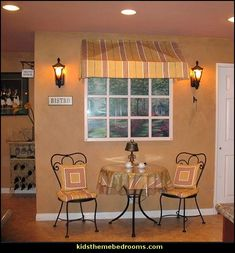 cafe style bistro decorating ideas-faux window decorating ideas