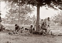 This picture was taken in 1864, and shows soldiers wounded in the Battle of the Wilderness. It is interesting to see how far battlefield medicine has come in the last 140 years. These men did not even have the comfort of a tent, but had only the shelter of a tree.