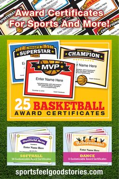 Sports certificates templates to create awards sports awards sports award certificate templates just personalize print and present sports include baseball yelopaper Gallery