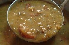 lentilha com costela defumada e linguiça