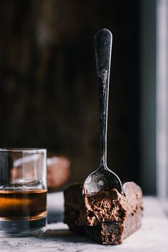 Chocolate Bourbon Mousse Cake with Ganache from The Sticky Spatula