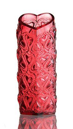 Lalique Rouge Amour Vase