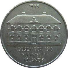 Iceland 50Kronur coin-1968