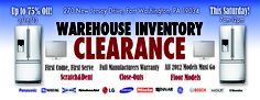 THIS SATURDAY, March 16th  DOORS OPEN AT 7AM- 12 NOON  270 NEW JERSEY DRIVE FT WASHINGTON,PA 19034    SPRING CLEANING SALE- WE NEED TO CLEAR THE WAREHOUSE- ALL 2012 MODELS MUST GO! WAREHOUSE SALE BLOWOUT! Come find deep discounts on all appliances such as front-load washers,dryers, refrigerators, ranges, BBQ Grills, Microwaves, wine coolers, TVs galore, and MUCH MORE! All major brands including Kitchenaid, Wolf, Sub-Zero, Viking, Electrolux, Bosch,Thermador.   www.gerhardsappliance.com