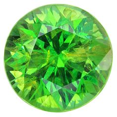 Russian demantoid, 0.85 cts. Fine cutting with excellent color and superior transparency.