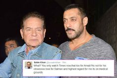 Is Salim Khan accusing Arnab Goswami of being soft with PM Narendra Modi and not with Salman Khan?