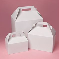 Decorative Bakery Boxes 4 X 4 X 434 Petal Top Hexagonal Pvc Box  Cake Table Favors And