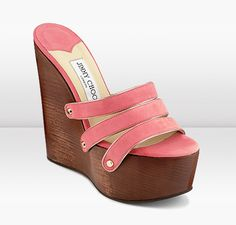 Jimmy Choo Callie Clog Sandals Coral / Chocolate