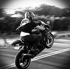 Me my bike and a wheelie