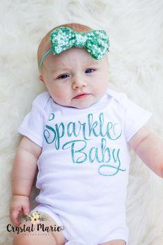 Sparkle Baby girl glitter gown.newborn girl by TheNewBabyBoutique
