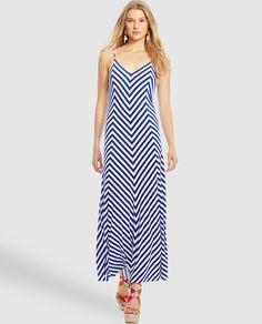 20b9a2cf70b Vestido maxi de mujer Polo Ralph Lauren de rayas en zig zag Faldas De Rayas
