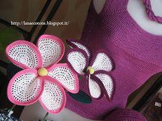 Lã e algodão (de malha): Flores