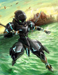Gargantia on the Verdurous Planet  Chamber is my fav character next to Ledo, I really like this art!