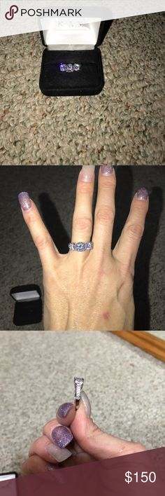 Diamond Nexus ring White gold three beautiful stones  this ring is a gorgeous man made diamond ring  Diamond Nexus Jewelry Rings