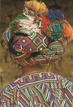 Beautiful #Mayan #Head dress. It is wonderfully eclectic and colorful..