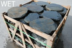 Slate stepping stone. $10 each. Slate Tiles, Stone Supplier, Natural Stones, Stepping Stones, Melbourne, Backyard, Wood, Garden, Patio