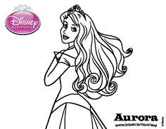 Dibujo de La Bella Durmiente - Princesa Aurora para colorear