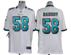 2012 Nike NFL Miami Dolphins 58 Karlos Dansby White Limited Jerseys