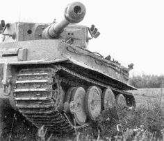 A Tiger 1 missing it's left front outer roadwheel