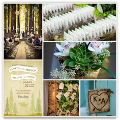 Another inspiration board with succulents - and I love the seating cards in the log. Will you use seating cards or just let people sit wherever?