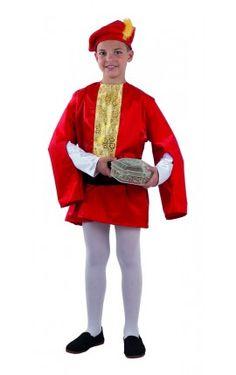disfraz de paje real de gaspar para nio