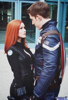 Black Widow & Captain America, Macy Rose Cosplay