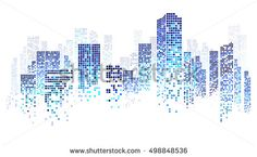 City scene on night time, cityscape blue pattern on white background Sketch Note, Origami Architecture, Building Images, City Illustration, Medical Illustration, Vector Design, Design Art, City Scene, Night Time