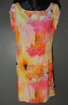 Liz Claiborne BEAUTIFUL Watercolor Multi Floral Patterned Sheath Dress Sz 4  #LizClaiborne #Sheath #WeartoWork