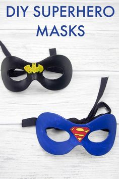 DIY Superhero Masks - Crafting with Tweens These DIY Superhero Masks look amazing and are so simple to make. They are perfect for crafting with your tweens. Craft Projects For Kids, Fun Crafts For Kids, Arts And Crafts Projects, Diy For Kids, Children Crafts, Craft Ideas, Kids Fun, School Projects, Super Hero Activities